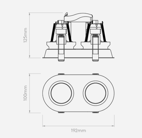 Oprawa Do Zabudowy Astro Minima Twin 1249029