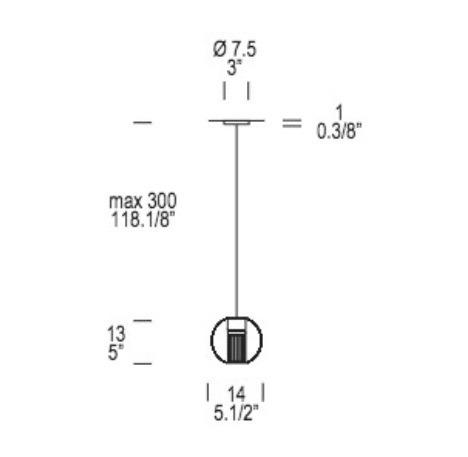 Oprawa Wisząca wpuszczana Leucos Fairy SS-INC 7,5 cm okrągła