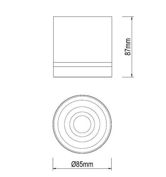 Oprawa natynkowa Ledowa Dann Lux Design REGE WH 4K DLD5323 4000K