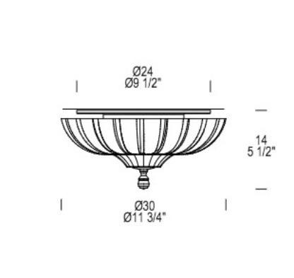 PASCALE PL 30 Lampa Sufitowa Leucos 30 cm