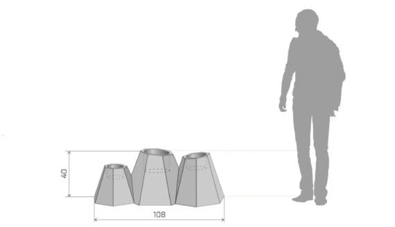 PD Concept 40 cm Donica Mont ST-MONT40 Biała