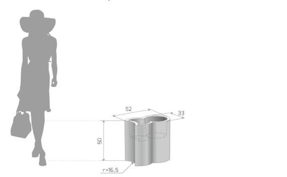 PD Concept 50 cm Donica Addpot ST-ADDPOT50 Biała
