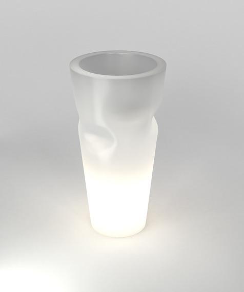 PD Concept 69cm Donica Podświetlana Bent ST-BENT69-LIGHT Biała