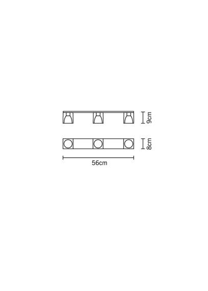 Plafoniera Fabbian CUBETTO WHITE D28 E03 01