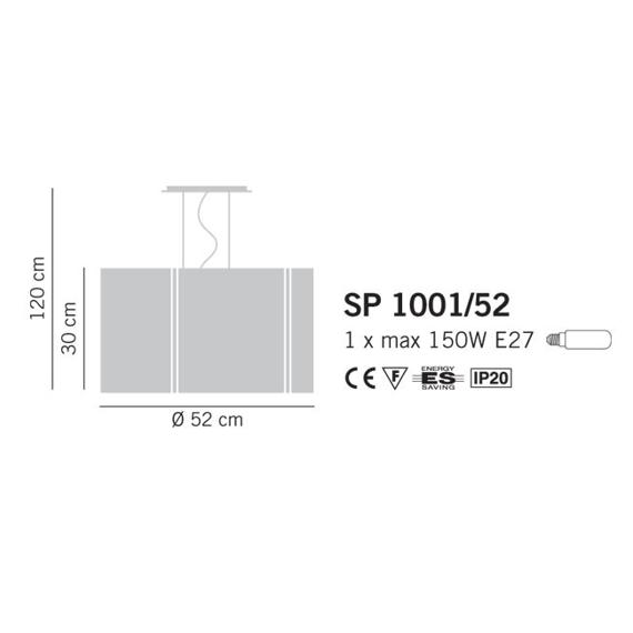 REFLEX 1001/52 Oprawa Wisząca Lampade Italiane 52 cm pomarańcz