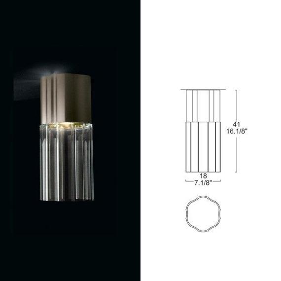 Reed PL 180 Lampa Sufitowa Leucos 18cm przezroczysta