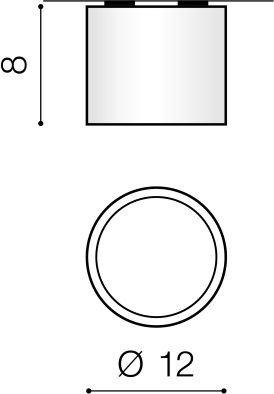 Reflektor sufitowy Biały Azzardo Alix AZ3541