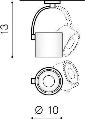Reflektor szynowy Azzardo LED Costa AZ3486 Czarny