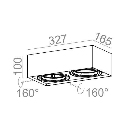Spot AQform SQUARES mini 111x2 40111-0000-T8-PH-03