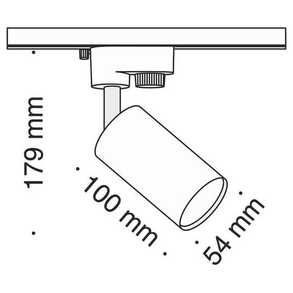 Szyno przewód Reflektor Maytoni Track TR002-1-GU10-B Czarny