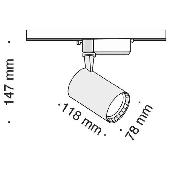 Szyno przewód Reflektor Maytoni Track TR003-1-12W4K-W Barwa 4000 K