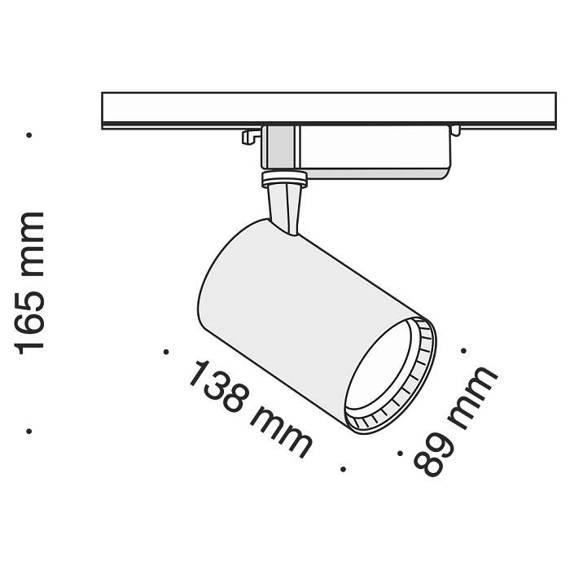 Szyno przewód Reflektor Maytoni Track TR003-1-17W4K-W Barwa 4000 K