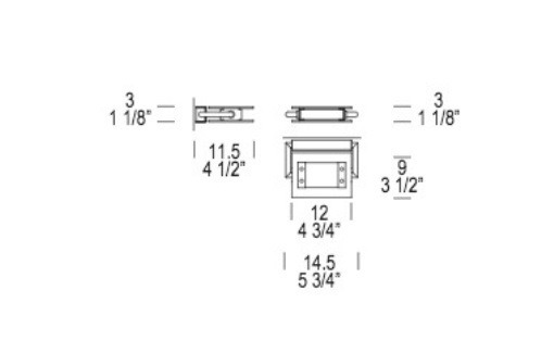 TRECENTOSESSANTAGRADI P-PL120 Lampa Ścienna biała Leucos