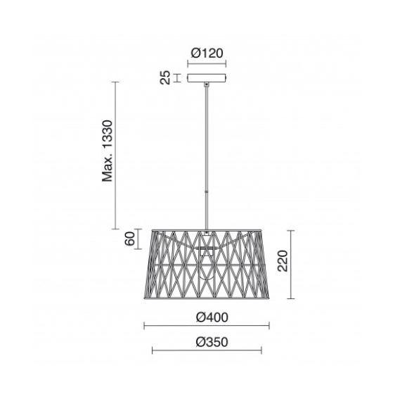 Tess 837C-G05X1A-01 Novolux Exo Lampa wisząca