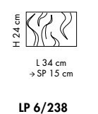 VENEZIA LP 6/238 satin/black Lampa Ścienna Sillux