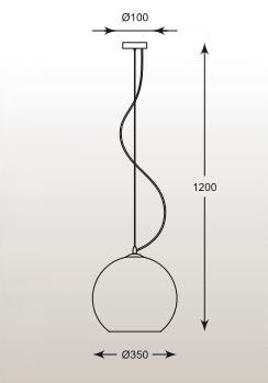 Vero MD1621-1 Chrom Żyrandol Zuma Line