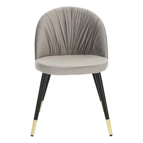 Welurowe szare krzesło Kotte Velvet
