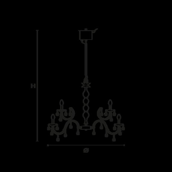 Wisząca lampa zewnętrzna Masiero Drylight S18