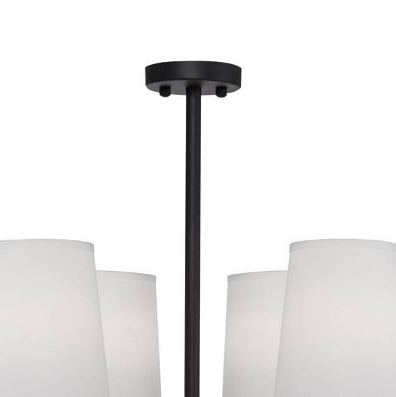 Żyrandol Czarno Złoty Berella Light Kampo 8 BL5424