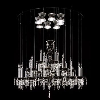 Żyrandol Facon de Venice LIMELIGHT 28.8 crystal/black