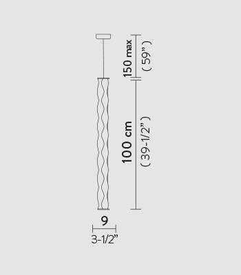 Żyrandol tuba LED Slamp Hugo Vertical kolor biały