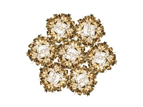 Żyrandol włoski Slamp Veli 7 kolor złoty