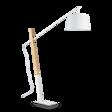 Ideal Lux Eminent PT1 Lampa podłogowa biała włoska z abażurem na wysięgniku